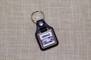 Triumph Herald Estate Keyring - Leatherette and Chrome Keyfob