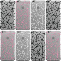 DYEFOR TRANSPARENT OUTLINES NAME HARD PHONE CASE COVER FOR APPLE IPHONE