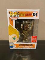 Funko Pop Dragon Ball Z Super Saiyan Vegeta Gold Chrome SDCC 2018 Exclusive #154