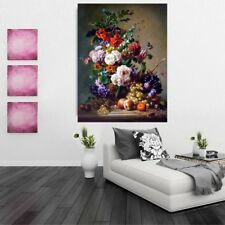 Art Print Still Life Colorful Flower Painting Picture Printed on Canvas Decor