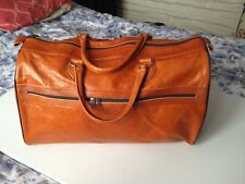 Genuine Tan Camel Leather Travel Fashion Handbag Bag With Internal Pockets