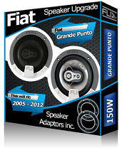 "Fiat Grande Punto Rear Door speakers Fli 4"" 10cm car speaker kit + adapters 150W"