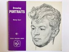 1961 DRAWING PORTRAITS Carr STUDIO Drawing Books 1st Edition ART Technique Skill