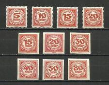 Austria, 1920, Portomarken, lote de 10 sellos nuevos, MNH**