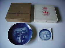 Vintage Bing & Grondahl 1973 Country Christmas Collectible Plate W/ Box