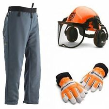 Husqvarna Chainsaw Protective Kit Basic -  Helmet Gloves Chaps PPE Kit