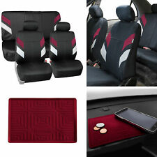 Neoprene Car Seat Covers For Auto Car Burgundy With Anti Slip Dash Mat Fits Jeep Cherokee