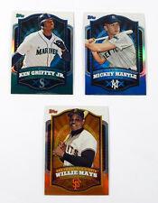 2012 Topps Retail Refractors Baseball Set (3) Mantle Mays Griffey Jr.