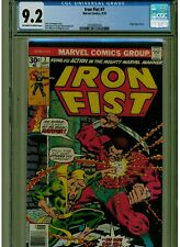 IRON FIST #7 CGC 9.2 NEAR MINT - OWTW PAGES 1975 BLUE LABEL ANGAR APPEARANCE