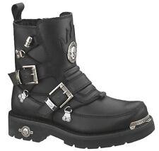 Harley-Davidson® Men's Distortion Skull Black Leather Motorcycle Boots D94167