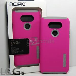 INCIPIO DualPRO Case Hard Shell Drop Protective Slim Cover for LG G5 - Pink Gray