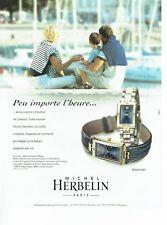PUBLICITE ADVERTISING 126  1999  montre  Newport  Michel Herbelin 2