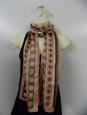 Ladies EX M&s 100 Silk Scarf Pink I165