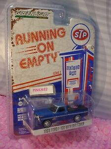 1969 FORD F-100 with BED COVER ∞Blue; STP∞Running on Empty; series 2∞GREENLIGHT
