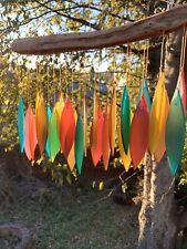 Autumn Fall Colors Glass Ovals Wind Chime Sun Catcher