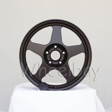 4 PCS ROTA WHEEL SLIPSTREAM  17X8 5X114.3 48 73 FLTBLK CIVIC INTEGRA RSX ACCORD
