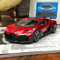 Bburago 1/18 Bugatti Divo diecast open and close car model Metallic Red / black