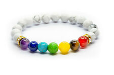 7 Chakra Bracelet. Crystal Healing Stone Beads Jewellery. Natural Yoga gift