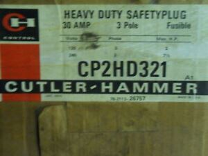 (M6-2) Cutler-Hammer Cp2Hd321 Heavy Duty Fusible Safety Bus Plug