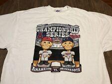 MLB Baseball ALCS 2002 Angels Minnesota Twins Bobblehead Logo 2XL T Shirt XXL