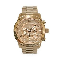 PRE ORDER Michael Kors Runway Oversized Rose Gold-Tone Chronograph Watch MK8096