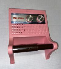 Vintage MCM Rest Room Bathroom Toilet AM Radio Pink Solid State Tested Kitsch