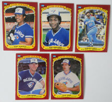 1986 Fleer Star Stickers Toronto Blue Jays Team Set of 5 Baseball Cards