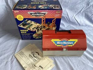Micro Machines, Galoob, Tool Box City Playset, 99% Complete Boxed, Instructions