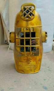 "Vintage U.S Navy Diving Divers Helmet Solid Steel Full Size 18"" Diving Hood gift"