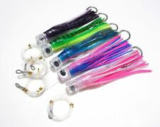 "5x 8.5"" Rigged Trolling Skirt Fishing Soft Lure for Big Game Marlin Tuna SS Hook"