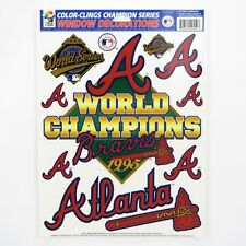 ATLANTA BRAVES 1995 WORLD SERIES CHAMPIONS - VINTAGE WINDOW CLINGS / DECALS