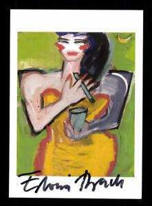 Elvira Bach Bildende Künstlerin Kunstpostkarte Original Signiert ## BC 175332
