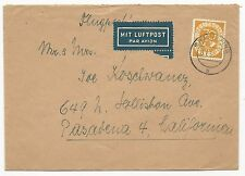 Germany Scott #683 on Air Mail Cover January 13, 1954 Grafelfing