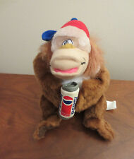 Vintage Pepsi-Cola Monkey Ape Stuffed Animal Pepsi Can Promotional Item 1996 #S1