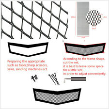 Black Aluminium Racing Automobiles Front Grille Mesh Rhombus Style Net 12*6mm