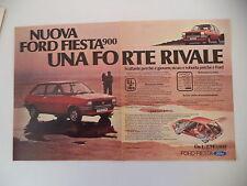 advertising Pubblicità 1976 FORD FIESTA 900