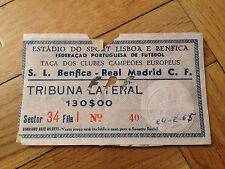 Entrada ticket Benfica Portugal Real Madrid Espagne Coupe d'Europe 1964 1965