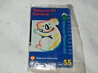 A Rare Australian Telecom $5 91 Geneva Specimen Phone Card