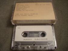 MEGA RARE PROMO Andy Savage CASSETTE TAPE Live 1989 Alice Cooper show UNRELEASED