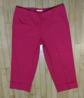 Liz Claiborne MICHAELA HAVE TO HAVE Pink Women Cuffed Crop Pants Size 14