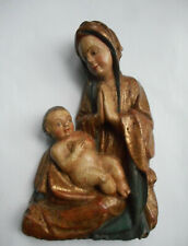 Madonna mit Kind geschnitzt Orig. italienische Renaissance um 1500