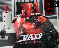 Star Wars Darth Vader Single Bed Quilt Cover Set - Red