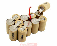 Ni-MH Sub C SC 14.4V 2200mAH Rechargeable Battery DIY for DeWALT DWCB14 12SN P90
