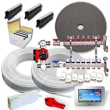 FULL Water Underfloor Heating Multi Zone/Room KIT - Wet 5 Layers Pipe 40-240 SQM