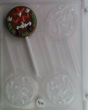 DIA DE LOS MUERTOS LOLLIPOP CLEAR PLASTIC CHOCOLATE CANDY MOLD H046