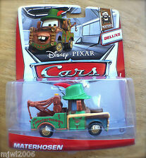 Disney PIXAR Cars MATERHOSEN on 2013 MATERS THEME CARD diecast 5/6 DELUXE German