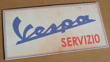 VESPA SERVIZIO sign. Vintage look Vespa Service sign ideal for garage or mancave