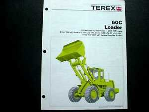 Terex 60C 70C & 85B Wheel Loader Literature