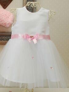 Taufkleid *Mädchen Set 2Tlg. Festkleid*62 68 74 80 86 Tüll BabyKleid Hochzeit*13