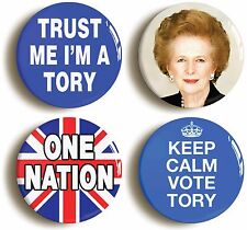 TORY CONSERVATIVE BADGE BUTTON PIN SET (Size is 1inch/25mm diameter) THATCHER